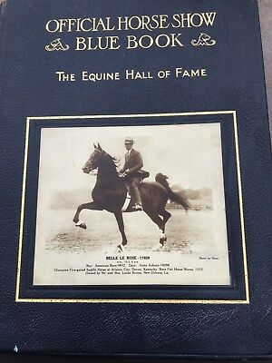 Saddlebred Official Horse Show Blue Book 1933 Trimmed in Gold RARE: Belle Beach