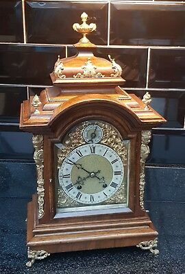 Superb Antique Walnut R M S Quarter Striking Bracket Clock