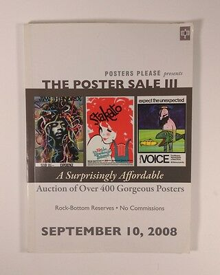 Posters Please Poster Auction III Full Color Catalog Affiche / Plakate 2008