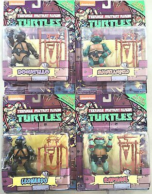 Teenage Mutant Ninja Turtles Retro Action Figures Set of 4 - Brand New