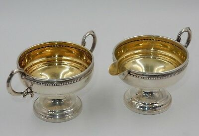 Vintage Revere Silversmiths 825 Sterling Silver Weighted Creamer & Sugar Bowl