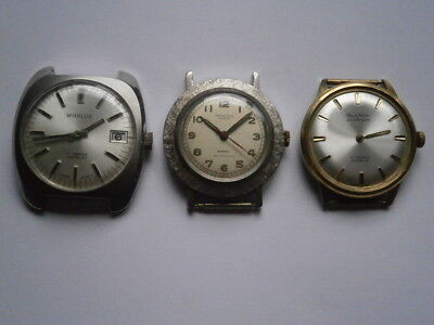Job lot of vintage gents watches mechanical watches spares or repair swiss made