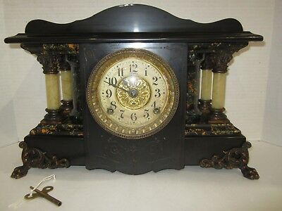 Antique Seth Thomas Shasta Mantel Clock Made In Usa, 8 Day, Time And Strike