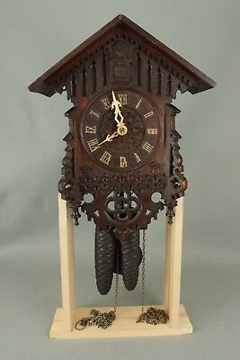 Working Antique Victorian German Wall Hanging Cuckoo Clock & Weights