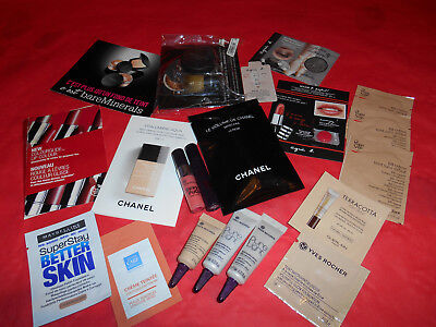 Lot Echantillons Maquillage Divers Chanel Peggy Sage Agnes B Yves Rocher...