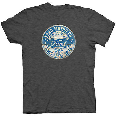 Ford Motor Company Since 1903 Vintage Distressed Grey Short Sleeve Tee Shirt