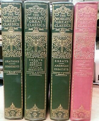 Lot of 4 100+ Year Old Decorative Classical - Essays, Orations 1899/1900 HC VG
