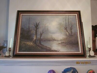 Early 20th Century Wooded Landscape, oil on canvas, signed Noah
