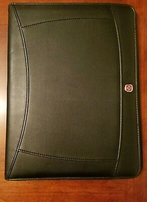 Wenger Black Writing Portfolio 9.5 x 13 Memo Pad Note Paper Swiss Army