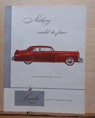 1946 magazine ad for Lincoln - red Continental Coupe for 1946, nothing finer