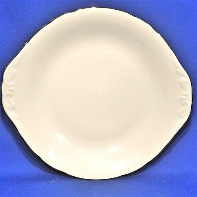 """Vintage COLCLOUGH Bone China - White and Gold - CAKE PLATE (10.5"""", 26.5cm) - VGC"""