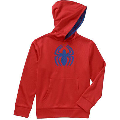 SPIDER-MAN MARVEL Pull-Over Sweatshirt Hoodie Boys Size 4/5, 6/7, 8 or 10/12 $24