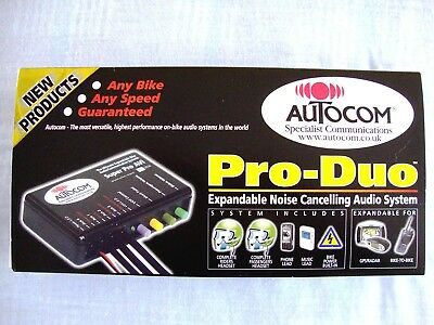 Autocom Pro Duo Motorcycle Communications Intercom System - New