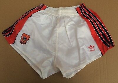 "Vintage adidas Arsenal Football Club Shorts, White with Red Trim Size 34"" (86cm)"
