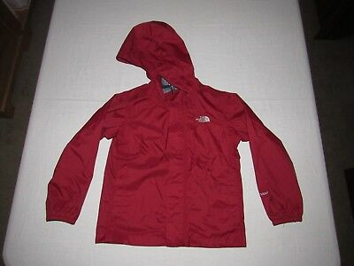 The North Face Boy's Red Hyvent Zip Up Long Sleeve Rain Hooded Jacket Size 5T