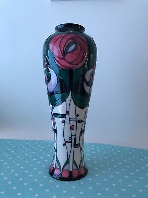 "Large 14"" Moorcroft Vase  Tribute to Charles Rennie Mackintosh"