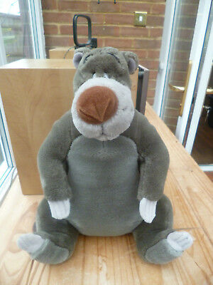 "Disney The Jungle Book Baloo The Bear Soft Plush Toy - Size 12"" Tall - Vgc"