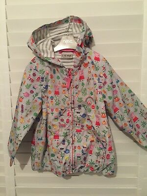 Next Girls Peppa Pig Lightweight Jacket 18/24 (perfect Condition)