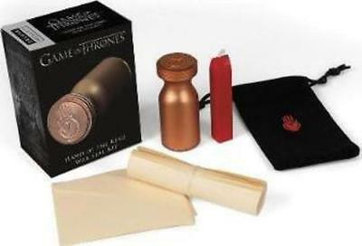 Game of Thrones: Hand of the King Wax Seal & Scroll Stationery Kit - Brand New