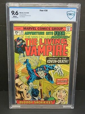 Marvel Comics Fear #30 1975 Cbcs 9.6 White Pages Morbius The Living Vampire
