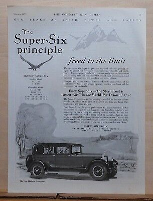 1927 magazine ad for Hudson - Super Six Principle freed to the limit, Brougham