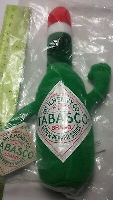 TABASCO GREEN Pepper Hot Sauce Bottle Plush Stuffed Toy Doll NEW w/ tag in bag