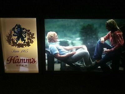 hamms lighted motion beer signs