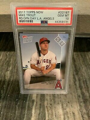 2018 Topps Now Road to Opening Day/1854 #OD-168 Mike Trout Los Angeles Angels Sports Trading Cards & Accessories
