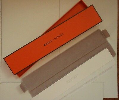 Apple Watch HERMES box and fabric case EMPTY from Double Tour watch