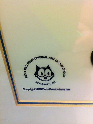 """Framed and matted """"Felix the Cat"""" Animation Sericel from Cartoon Classics Oriolo"""