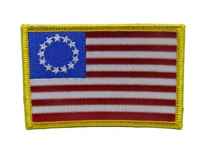 Betsy Ross Historical 13 Star Flag Iron On Patch