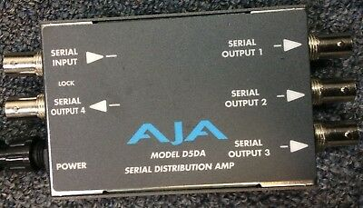 AJA VIDEO D5DA 1x4 SD-SDI DA SERIAL DISTRIBUTION AMPLIFIER