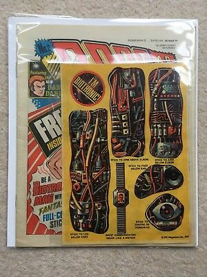 2000Ad #2 + Free Gift Biotronic Stickers - 2000 Ad 1977