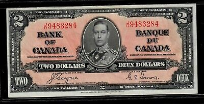 Canada Two Dollars 1937 Coyne-Towers p-59c VF
