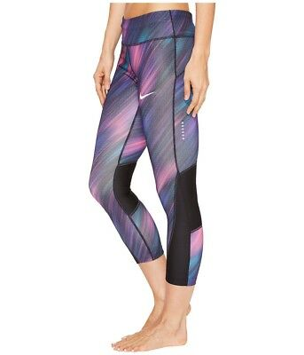 NWT NIKE Womens Power Printed Cropped Leggings size XL retail $60