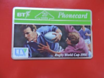 Bta021 Phonecard  Rugby World Cup Itv Sport 1991 20 Units Collectors Item