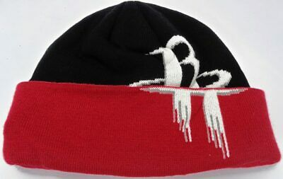 203d3438b Houston Rockets NBA Adidas Cuffed Black Red Knit Hat Cap Toque Beanie OSFA
