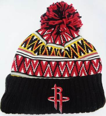 size 40 af30f 1418d Houston Rockets NBA Mitchell   Ness Knit Hat Cap Toque Beanie OSFA