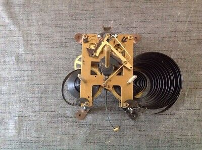 Vintage Clock Movement 8x12cm Plates Untested For Repair Or Spare Parts