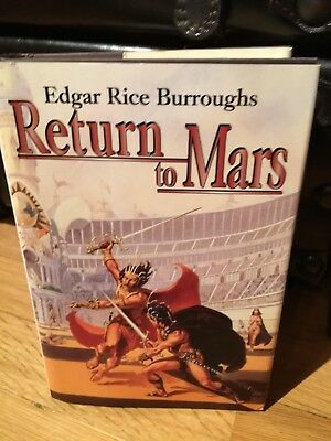 RETURN TO MARS by EDGAR RICE BURROUGHS HC/DJ in VF SHAPE JOHN CARTER OF MARS