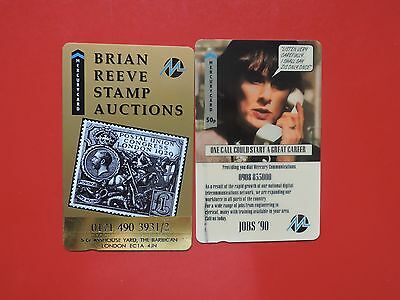 2 Collectable  Mercury Uk Phone Cards Used.  Lot 14