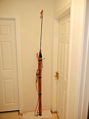 """Vintage/Antique Whaling Whale Seal Harpoon  84"""" long Decor"""