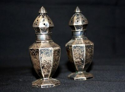 Pair of Webster Company Solid Sterling Silver Pepper Shakers 51.5g