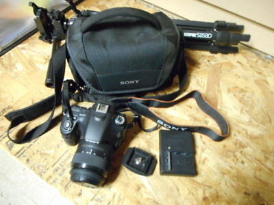 Sony Alpha SLT-A58 20.4MP SLR Camera - Black (Kit w/ DT SAM II 18-55mm  READ!!!