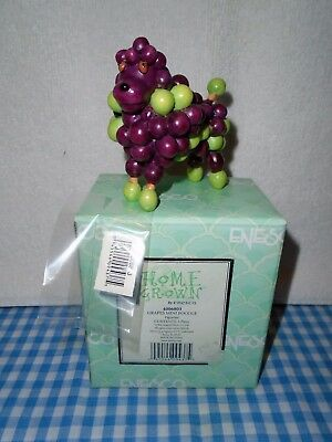 Enesco Home Grown Grapes Mini Poodle Discontinued, Very Rare & Hard to Find!