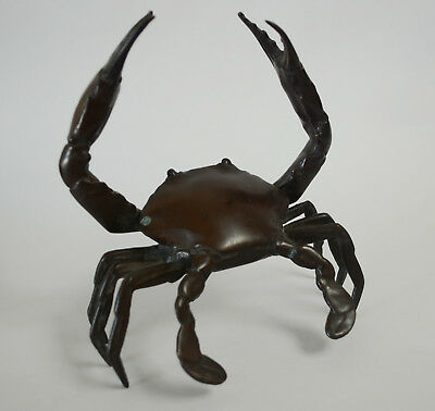 Vintage Bronze Crab Japanese or Chinese