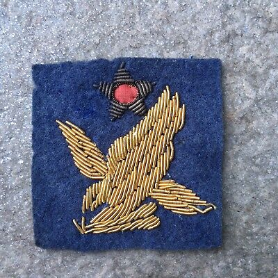 SCARCE! Army WW2 2nd AAF Bullion Uniform / Jacket Patch on Felt