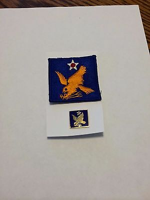 World War Ii U. S. Second Army Air Force Colored Patch And Patch Type Insignia