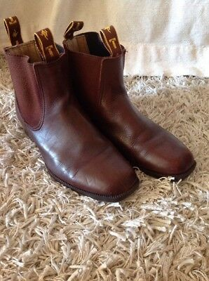 Enoch Taylor T-BOOTS  (size 5 - fits Ladies 8.5/9) Aussie made Jodhpurs Leather