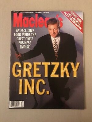 Wayne Gretzky Cover 1994 Macleans Magazine